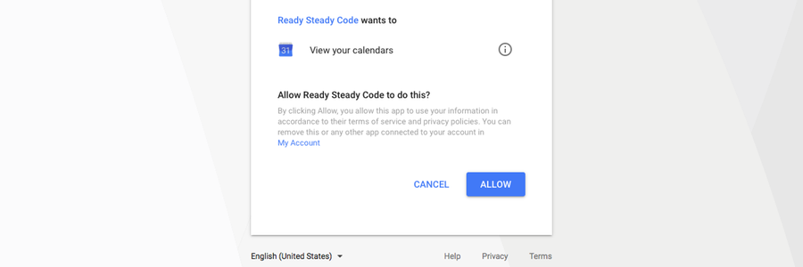 Screenshot: Google consent screen